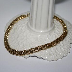 """Handsome men's 8.5"""" gold link bracelet"""